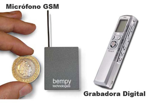 Kit Microfono GSM Pro con Grabadora Digital Pro