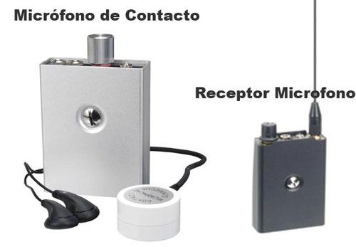 Kit Microfono Contacto con Receptor Microfono