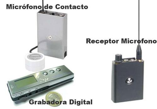 Kit Microfono de Pared, Receptor y Grabadora