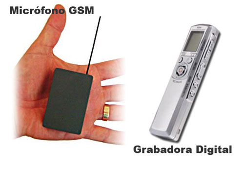 Kit Microfono GSM con Grabadora Digital Pro